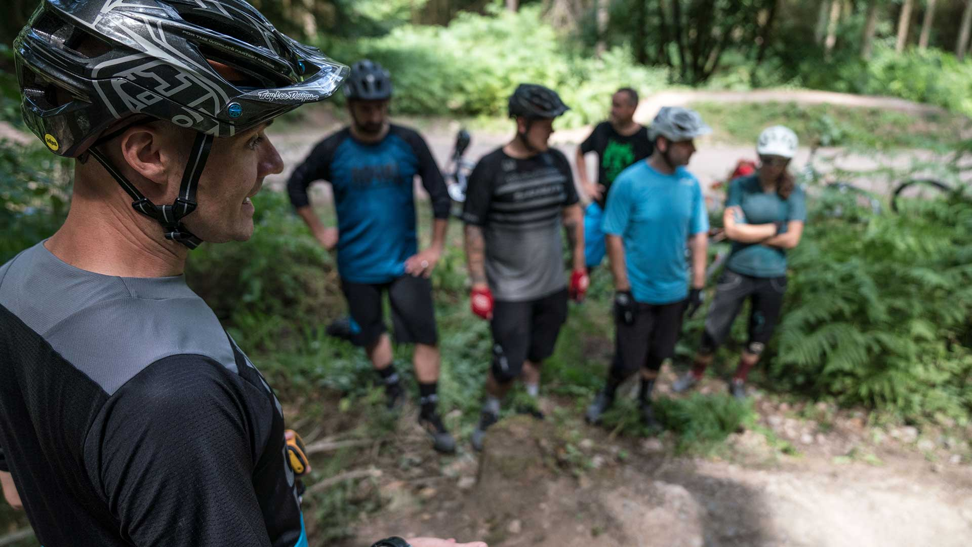 Alan Milway coaching in the Forest of Dean for +3 MTB Plus 3