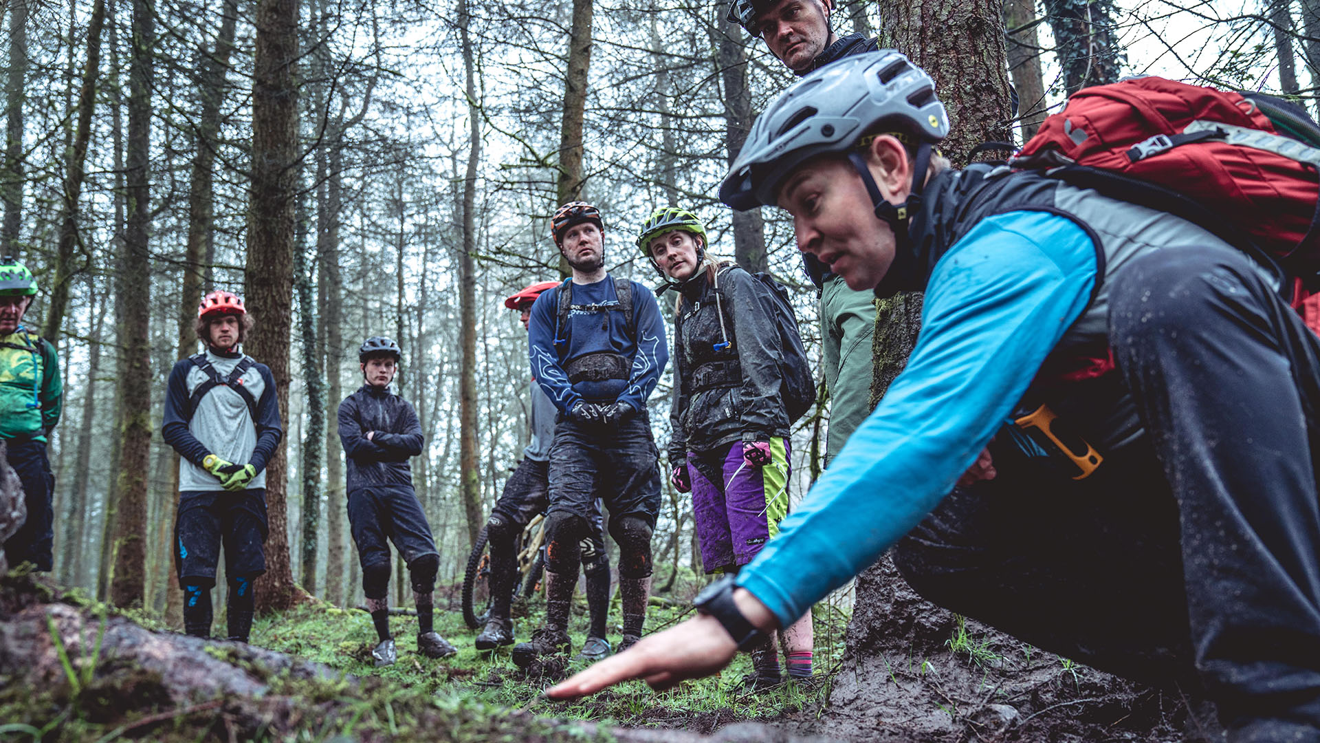 +3 MTB Coach James Richards talks riders through beating sniper roots when the trails are wet